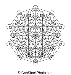 Interwoven pattern of geometric shapes. Vector illustration.