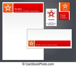 intestazione, disegno, con, logotipo, -, 3