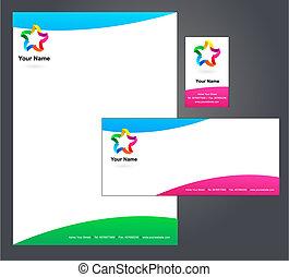 intestazione, disegno, con, logotipo, -, 5