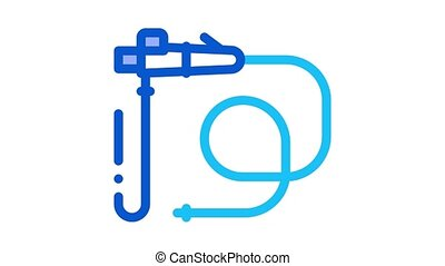 intestinal diagnostic tube Icon Animation. color intestinal diagnostic tube animated icon on white background