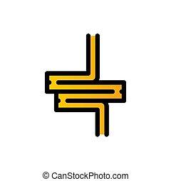 intestine filled line vector icon