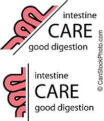 intestine half cut symbol