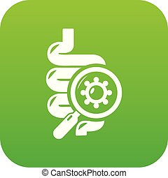 Intestine virus icon green vector