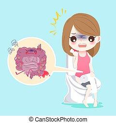 intestino, pessoas