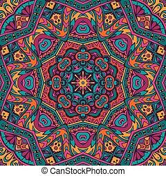 inticate seamless pattern mandala