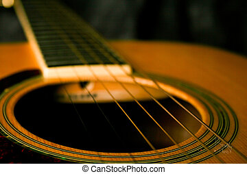 Intimate Acoustic  - Close-up of acoustic guitar