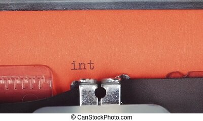 Intimate services - Typed on a old vintage typewriter....
