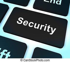 intimidad, actuación, computadora, seguridad, llave, seguridad