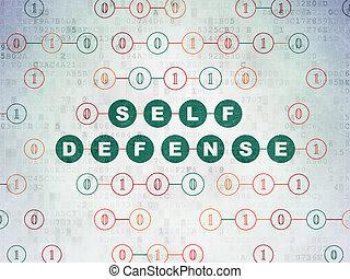 intimidad, concept:, defensa propia, en, digital, datos, papel, plano de fondo