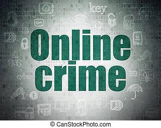 intimidad, concept:, en línea, crimen, en, digital, datos, papel, plano de fondo