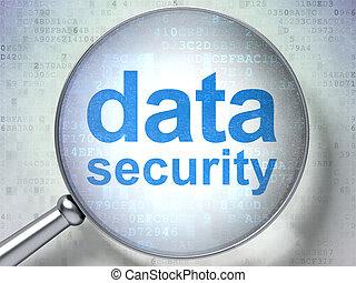 intimidad, concept:, seguridad de datos, con, óptico, vidrio