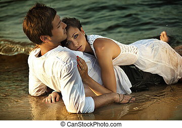 intimidad, en la playa