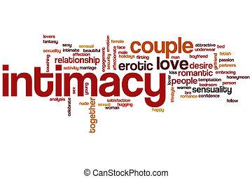 intimidade, palavra, nuvem