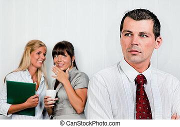intimidar, en, el, lugar de trabajo, oficina
