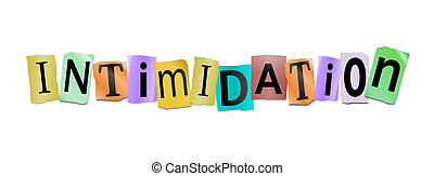 Intimidation concept. - Illustration depicting cutout...