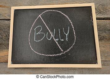 intimide, conceito, anti-bullying, ou, não