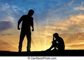 intimider, abus, famille, enfant