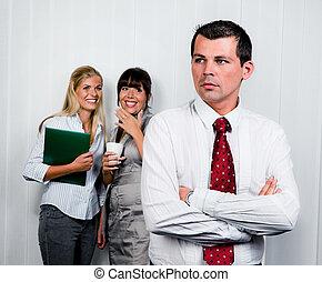 intimider, dans, les, lieu travail, bureau