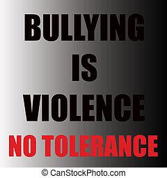 intimider, est, violence