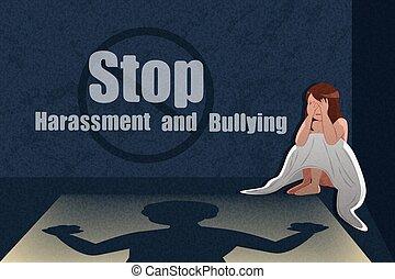 intimider, harcèlement, arrêt