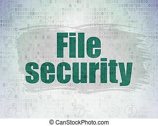 intimité, concept:, fichier, sécurité, sur, numérique, données, papier, fond