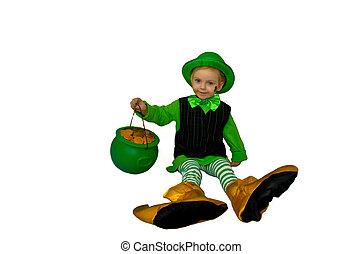 Into mischief again - A little leprachaun up to mischief...