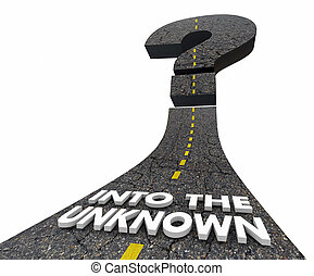 Into the Unknown Question Mark Uncertain Future Road 3d Illustration