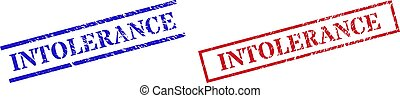 INTOLERANCE Textured Rubber Stamp Watermarks with Rectangle Frame
