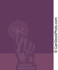 intorno, legato, illustrazione, promemoria, nastro, dito