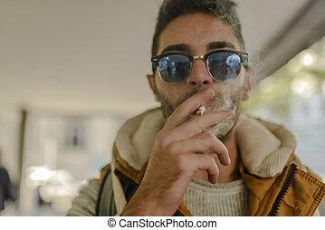 intoxiqué, fumée