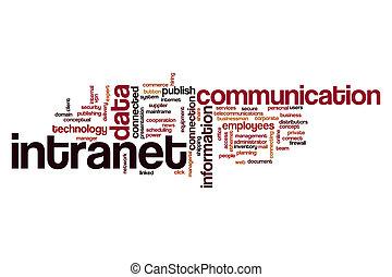 intranet, słowo, chmura, pojęcie