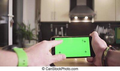intratny, smartphone, samiec, karta, siła robocza