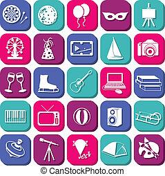 intrattenimento, icone