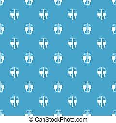 Intravenous infusion pattern seamless blue - Intravenous...