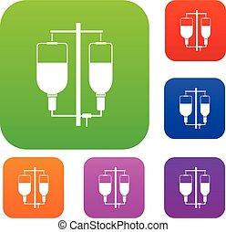 Intravenous infusion set collection - Intravenous infusion...