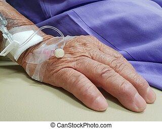 intravenous, salino, hospitalar, paciente