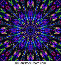 Intricate 3D fractal mandala