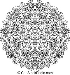 Intricate geometric pattern on white background