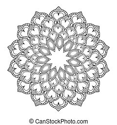 intricate mandala icon - flat design intricate mandala icon...