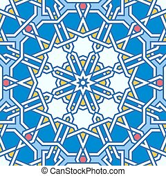 Intricate moorish eastern pattern. Seamless vector...