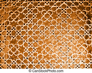 Intricate pattern on the walls