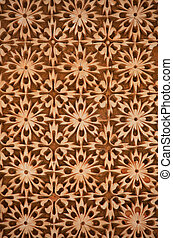 Intricate pattern on wall