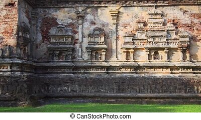Intricate Relief Sculptures on Exterior of Ancient Ruins in ...