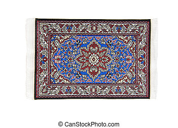 Intricate Rug - Intricate rug full of bright colors flowers...