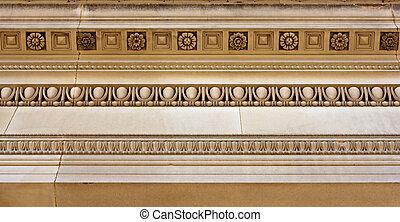 Intricate sandstone cornice work - Intricate cornice...