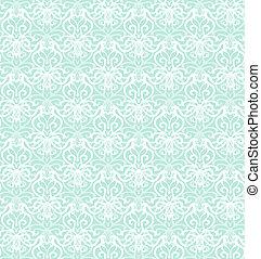 Intricate White Luxury Seamless Pattern on Blue Background