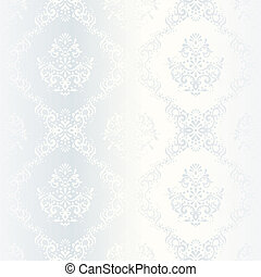 Intricate white satin wedding pattern - elegant white...