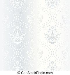 Intricate white satin wedding pattern