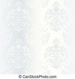 Intricate white satin wedding pattern - elegant white...