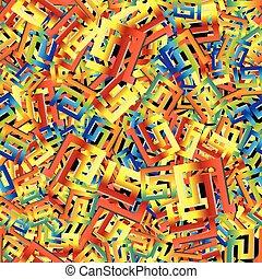 intricato, 3d, pattern., luminoso, seamless, greco